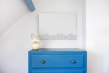 empty blank picture frame in a