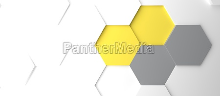 modern grey and yellow honeycomb background