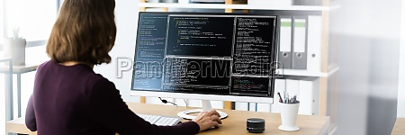 software programmer or coder woman