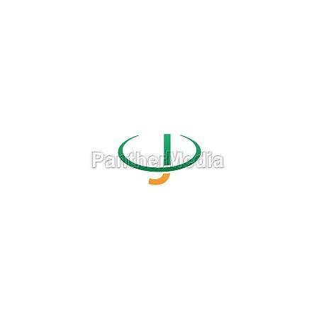 j letter circle logo concept letter