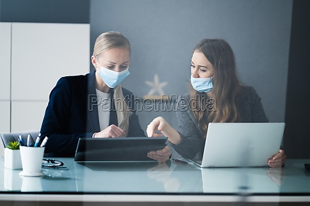 business analyst workers working at office
