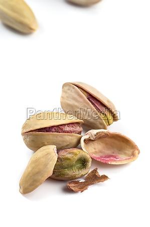 pistachio on a white background