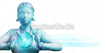 business woman presentation abstract
