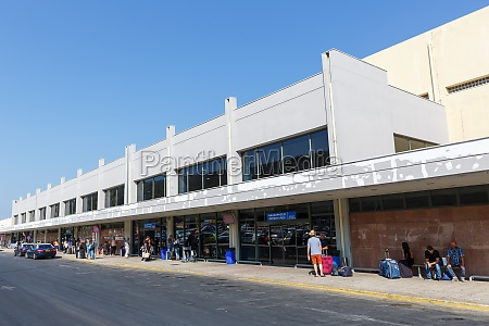 terminal rhodes airport rho in greece