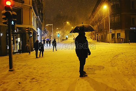 the great historic snowfall in madrid