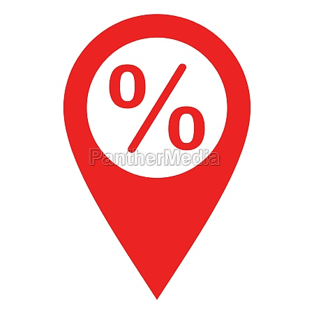 percent and location pin