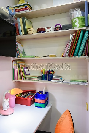 writing desk in the childrens room