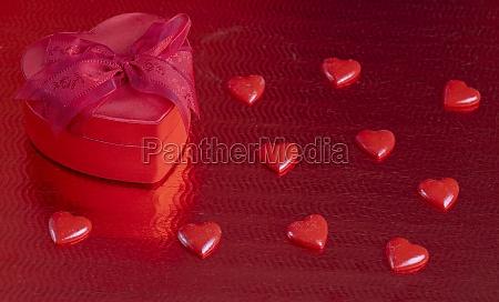 still life of valentines decoration
