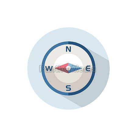 compass, west, direction., flat, icon, on - 29263547