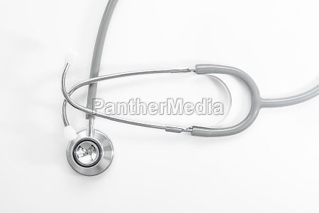 stethoscope for doctor checkup on white