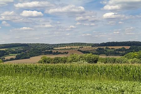 around jagst valley in hohenlohe