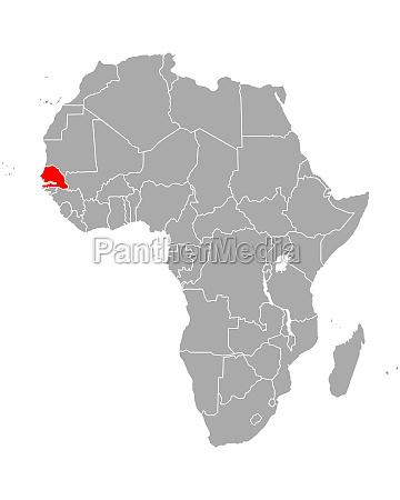 map of senegal in africa