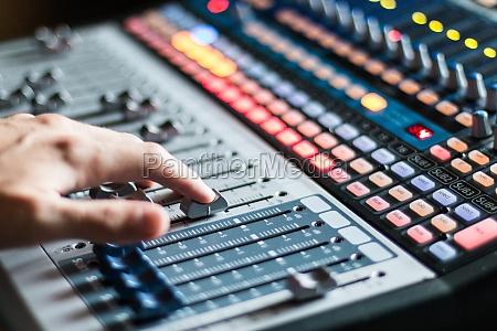 sound recording studio mixer desk professional