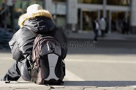 rear view of a person carrying
