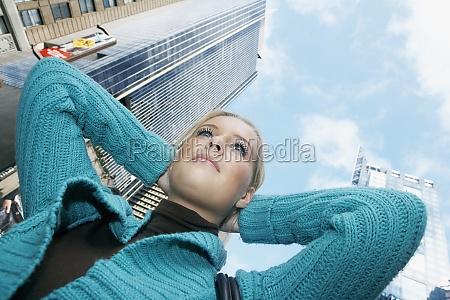 low angle view of a teenage