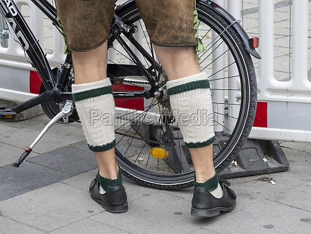 legs of a man with traditional