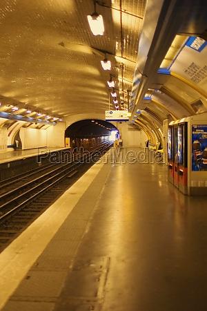 interiors of a subway station paris
