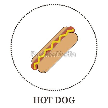 realistic hot dog on white background