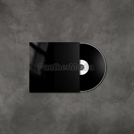 black cd dvd mockup template