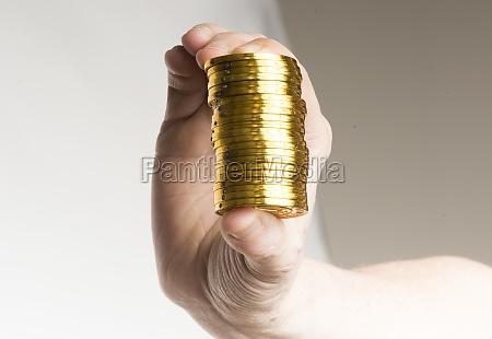 golden bitcoin coin as a digital