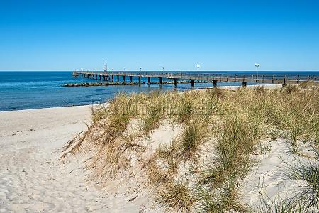 pier on the baltic sea coast