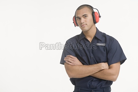portrait of airport ground traffic controller