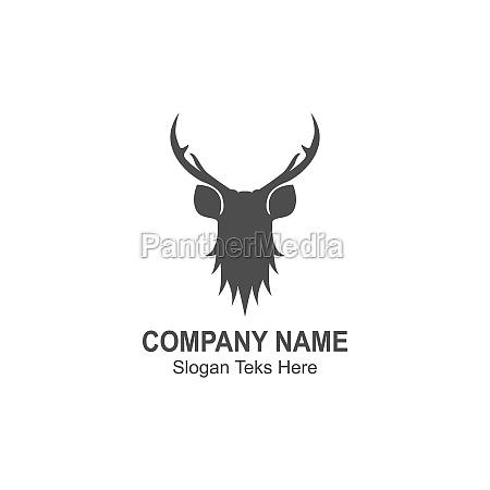 deer logo icon illustration design vector