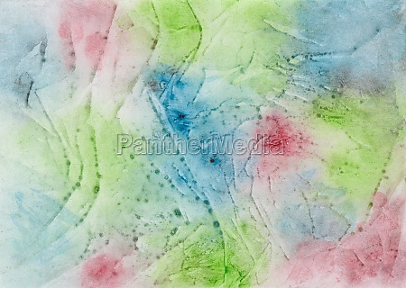 watercolor painting with color blots paint