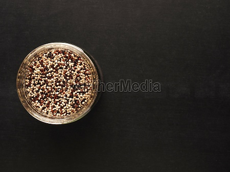 organic quinoa in a jar on