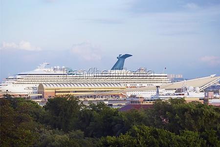 cruise ship at a port