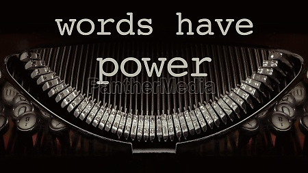 words have power on a vintage