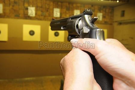 target shooter at a shooting range