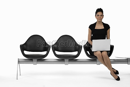 portrait of a businesswoman sitting on