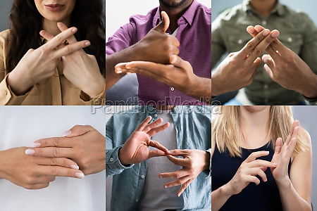 adults learning sign language