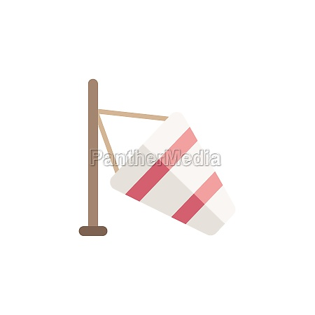 low wind flat icon isolated weather