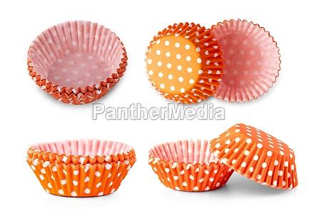 red polka dot cupcake paper cup