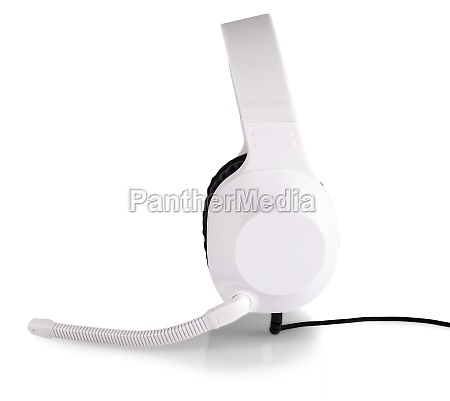 the, white, headphones, with, a, microphone - 29288762