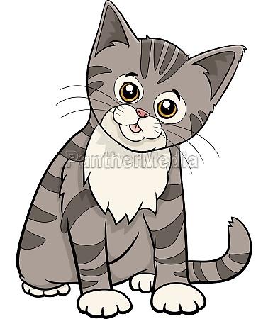 cute tabby cat or kitten cartoon