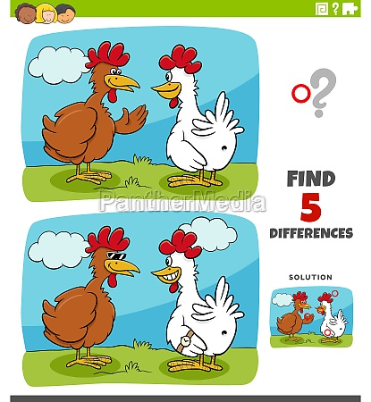 differences educational game for kids with