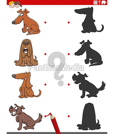 shadow task with funny comic dogs