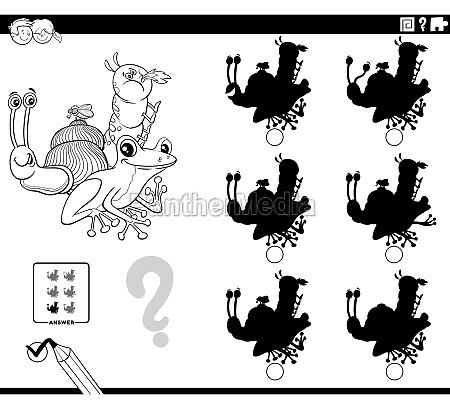 educational shadows game with cartoon animals
