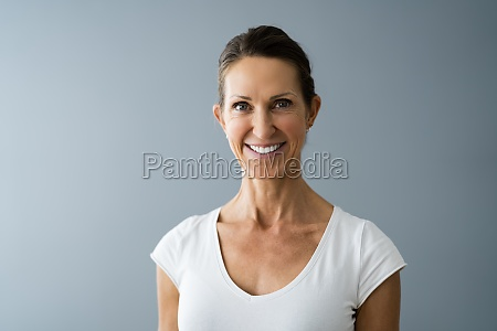beautiful mature women headshot