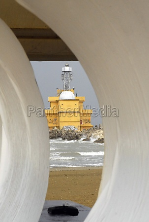 lighthouse for navigational aid in shipping
