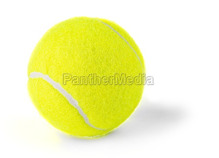 single tennis ball isolated on white