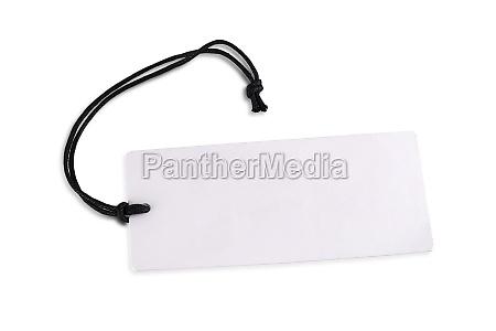 the blank white cardboard price tag