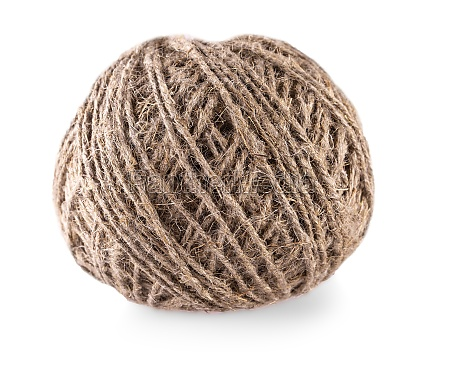 the skein of jute twine isolated