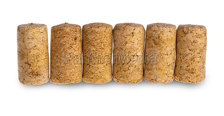 the wine cork isolated on white