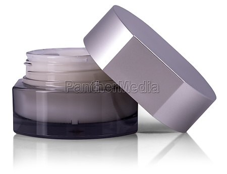 cosmetic cream in container isolated on
