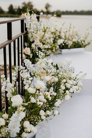 area for the wedding ceremony on