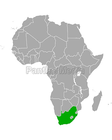 map of south africa in africa